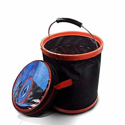 Thumby Vehicle Garbage Dust Case? Rubbish Holder Bin?12L Car Wash Large Bucket Folding Bucket Car Home Multi-Function Outdoor Portable Fishing Bucket Car Trash Can, Auto Parts (Large Capacity)3L