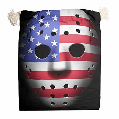 nanjingjin Halloween Flag Cotton Muslin Bag Breathable Personal and Daily Essential Items for Shoes White 20 x 25 cm