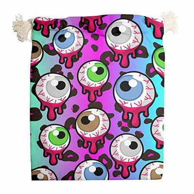 nanjingjin Halloween Eyes Blue Ditty Bag Breathable Personal and Daily Important Items for Weddings White 12 x 18 cm