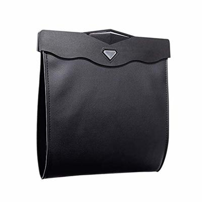 Thumby Vehicle Garbage Dust Case? Rubbish Holder Bin?Car Trash Can, Can be Hung, Dual-Use Storage Bag, Car Rear Seat Can be Hung, Storage Box Multi-Function Led Light Trash Bag,Black