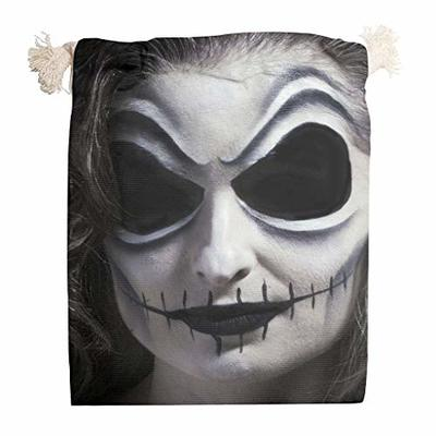nanjingjin Halloween face storage bag, dustproof, personal and daily important items for weddings, white, 20 x 25 cm.