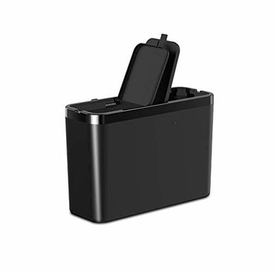 Thumby Vehicle Garbage Dust Case? Rubbish Holder Bin?Car Trash Can, Car Interior Creative Front and Back Door Storage Box Trash Can,Black