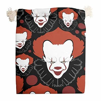 nanjingjin Clown Halloween Storage Bag Dustproof Personal and Daily Important Items Store Art & Craft Gifts White 20 x 25 cm