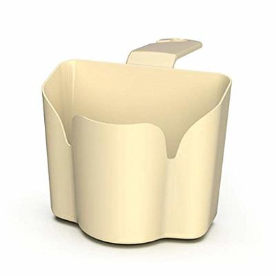 Thumby Vehicle Garbage Dust Case? Rubbish Holder Bin?Mini Car Hook up Trash Can, Seat Storage Box Finishing BoxBeige