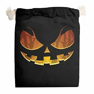 nanjingjin Halloween Smile Cotton Muslin Bag Dustproof Personal and Daily Important Items Store for Weddings White 12 x 18 cm