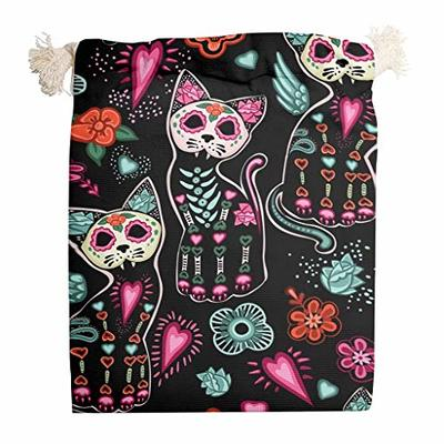 nanjingjin Halloween Cat Red Storage Bag Dustproof Personal and Daily Important Items for Bags White 12 x 18 cm