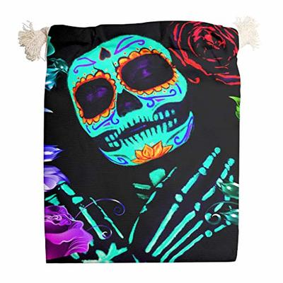 nanjingjin Mask Halloween Blue Storage Bag Breathable Personal and Daily Important Items Store Indoor White 12 x 18 cm