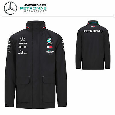 Official 2020 Mercedes-AMG F1 Team Rain Jacket Lewis Hamilton Softshell Coat