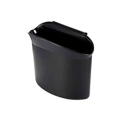 Thumby Vehicle Garbage Dust Case? Rubbish Holder Bin? Multi-Function Car Content Bag Trash Container Trash Can, Black Open Trash Can Installed on Automatic Door,
