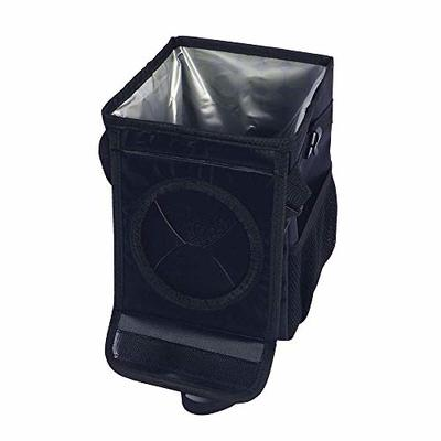 Thumby Vehicle Garbage Dust Case? Rubbish Holder Bin? Car Trash Can, Car Waterproof Folding Trash Can with Lid and Side Pockets, Storage Bag Rear Seat Hanging Trash Can,