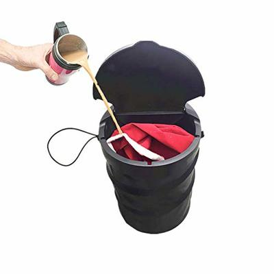 Thumby Vehicle Garbage Dust Case? Rubbish Holder Bin?Automobile Trash Can, Collapsible Design Automatic Car Trash Can, Anti-Leakage Collapsible Trash Can,