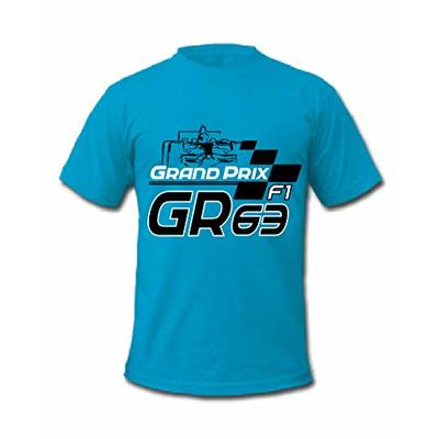 Cold Gun F1 George Russell 63 British Formula One Racing Driver T-Shirt (Large, Blue)