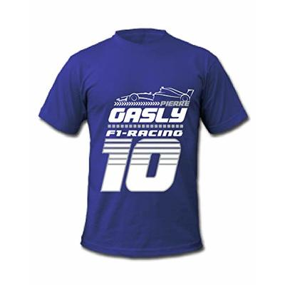 Cold Gun F1 Pierre Gasly 10 Formula One Racing Driver T-Shirt (Small, Blue)