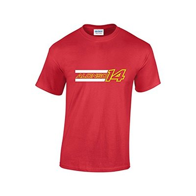Rinsed Alonso F1 T-Shirt (Red Large)