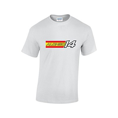Rinsed Alonso F1 T-Shirt (White Large)