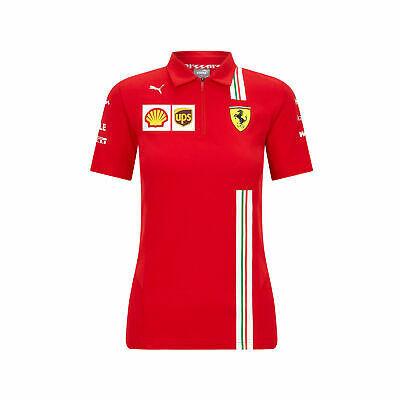 Womens Ladies Fanatics Scuderia Ferrari 2020 Team Polo