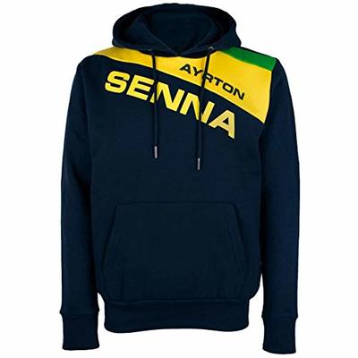 Ayrton Senna Authentic Men's Hoody Racing Navy (S)