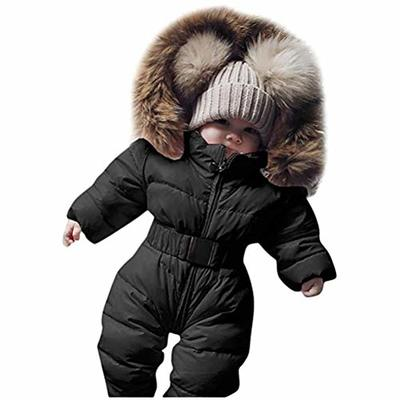 spier Baby Down Snowsuit,Infant Baby Girls Boys Winter Down Snowsuits Romper Jacket Hooded Jumpsuit Warm Thick Coat Outfit