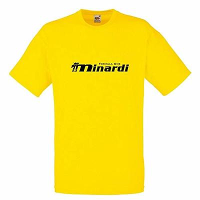 BY Minardi Formula 1 T-Shirt F1 Car Enthusiast Various Sizes & Colours Yellow