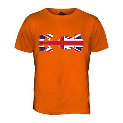 Candymix – Great British F1 – Mens T Shirt Top T-Shirt, Size X-Small, Colour Orange